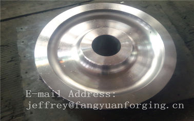 China 4140 42CrMo4 SCM440 Alloy Steel Rail Forged Wheel Blanks Quenching And Tempering Finish Machining Mine Industry distributor